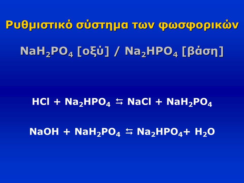Ρυθμιστικό σύστημα των φωσφορικών NaH2PO4 [οξύ] / Na2HPO4 [βάση]